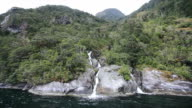 View on Milford Sound Fjord video