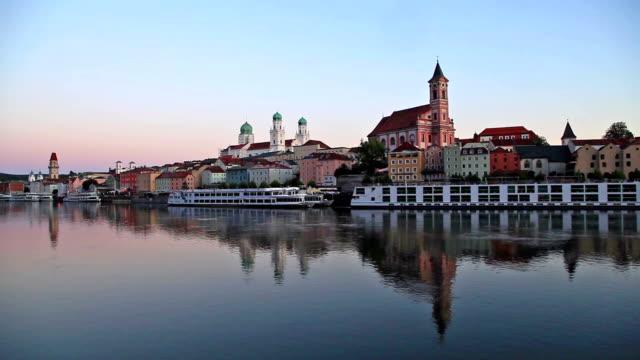 View on Passau skyline video