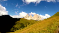 View on the Alps and Dolomites video