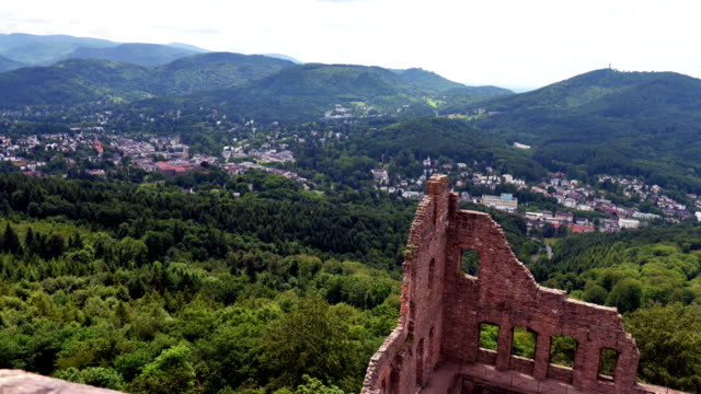 View on the Baden-Baden (Germany) valley video