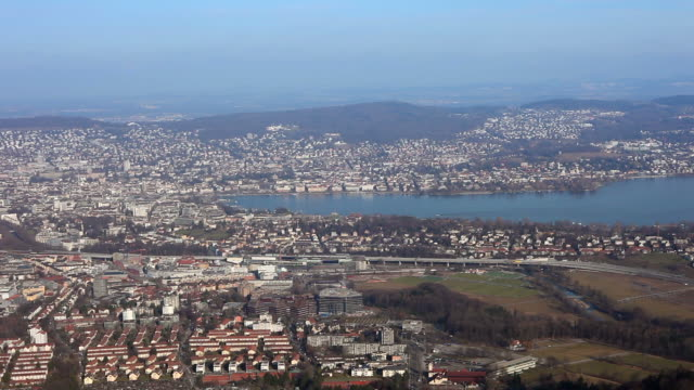 View on Zurich - time lapse video