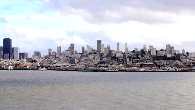 view over downtown San Francisco video