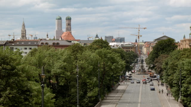 View over Maximilianstraße in Munich video