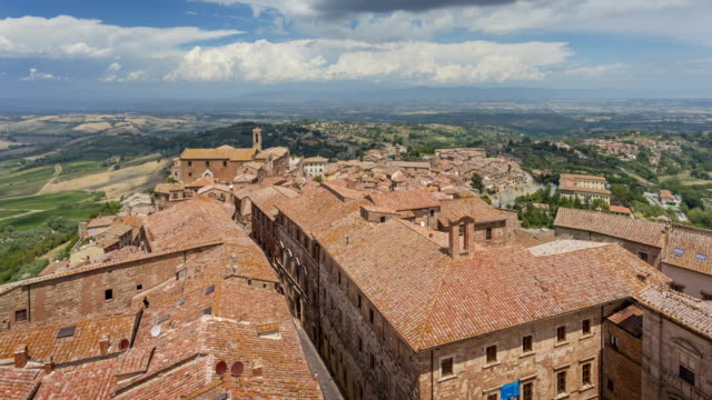 View over Montepulciano, Tuscany video