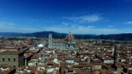 View over the City of Florence in Tuscany, Italy video
