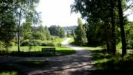 view to an outdoor recreation zone in Puotilanlahti, Helsinki. video