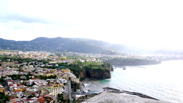 View to Sorrento coastline and Gulf of Naples video