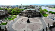 view to the Semperoper in Dresden video