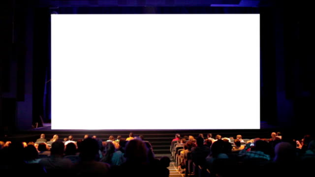 Viewers in the cinema house. video