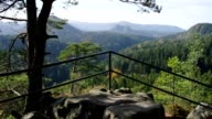 viewpoint Kleinsteinaussicht in Elbe Sandstone Mountains, Saxony video