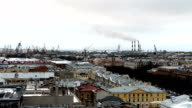 views of St. Petersburg from the height of St. Isaac's Cathedral video