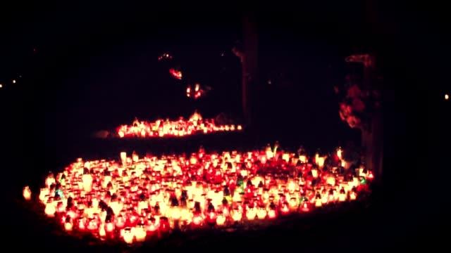 Vigil lights on memorial video