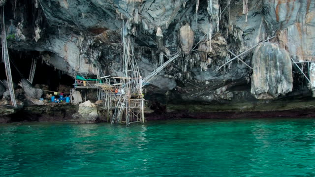 Viking Cave, Phi Phi Islands, Thailand video