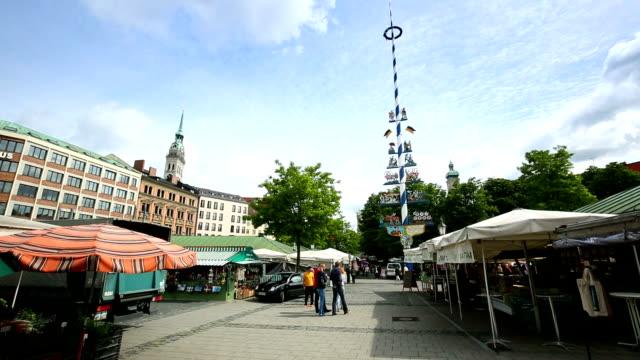 Viktualienmarkt in Munich video