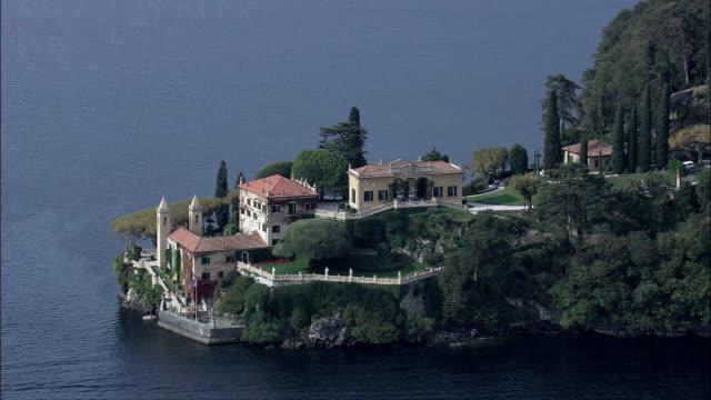 Villa Del Balbianello  - Aerial View - Lombardy, Provincia di Como, Lenno, Italy video