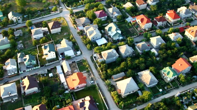 Village, aerial view video