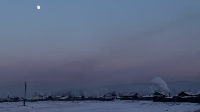 village at sunset video