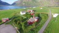 Village Flakstad on Lofoten islands in Norway video
