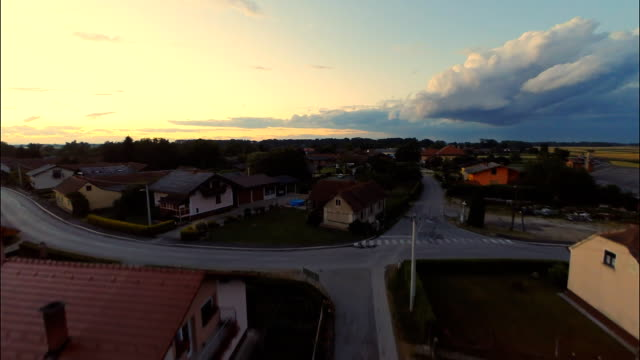 AERIAL Village In The Pannonian Plain video