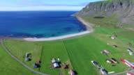 Village of Unstad on Lofoten, Norway video