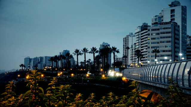 Villena bridge timelapse in miraflores, Lima Peru video