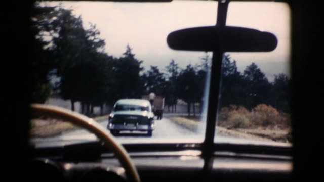 Vintage 16mm Driving Car 1956 (HD1080) video