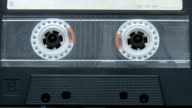 Vintage audio cassette playing video