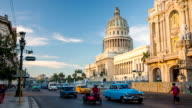 Vintage Cars in front of Capitolio in Havana Cuba video