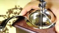 Vintage coffee grinder video