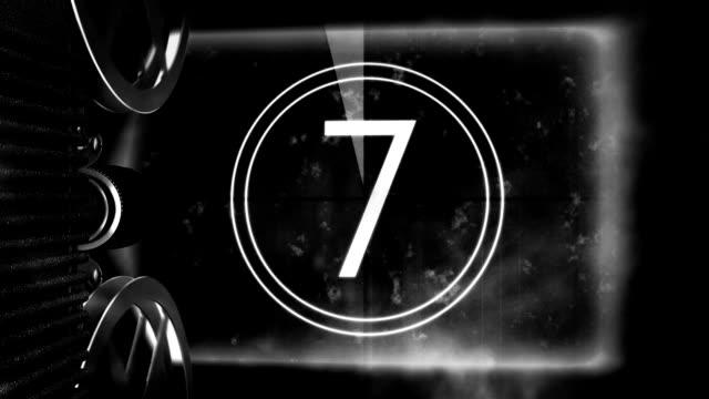 Vintage Film Projector Countdown video