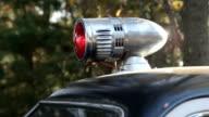 Vintage Highway Patrol Sheriff Car Red Light video