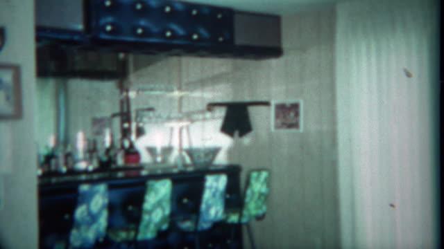 1963: Vintage home wet bar basement setup custom built by the owners. video