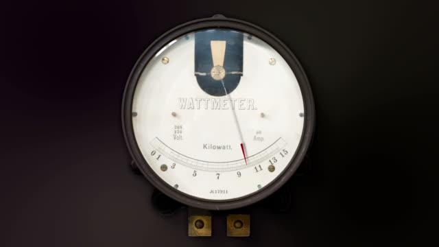 Vintage Kilowatt Meter video