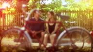 Vintage look love framed in a bicycle video
