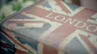 Vintage Luggage Painted with UK Flag video