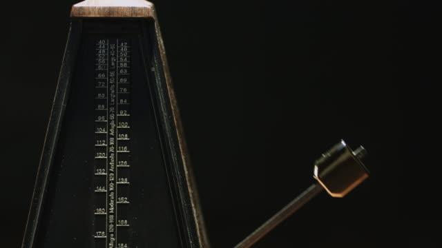 Vintage metronome beats the rhythm video