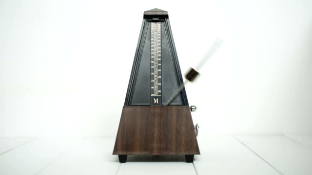 Vintage metronome, on a white background. video