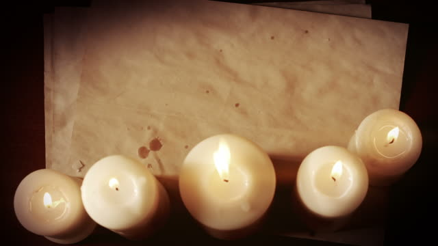 Vintage paper and candles video