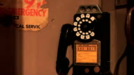 vintage pay phone, rotary, old telephone video