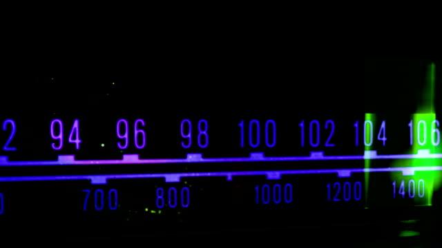vintage radio dial video