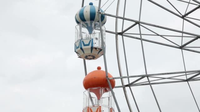Vintage Retro Ferris Wheel on Blue Sky video