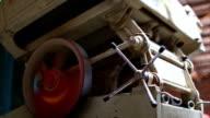 Vintage rice mill video