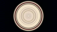 Vintage style circle kaleidoscopic pattern. video
