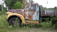 Vintage truck. Three shots. video
