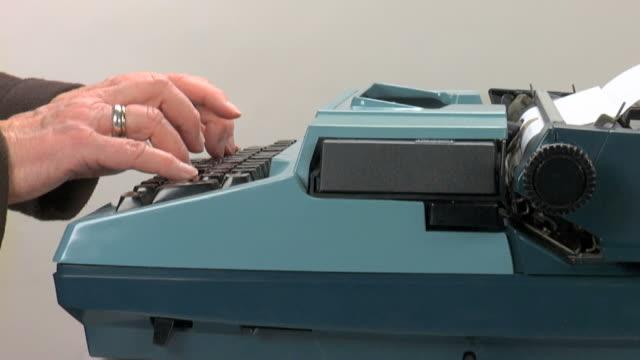 Vintage typewriter, 4 seperate shots video