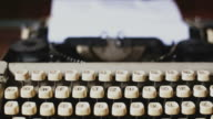 Vintage typewriter video
