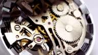 Vintage watch mechanism video
