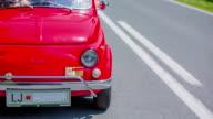 Vintage zastava car driving video