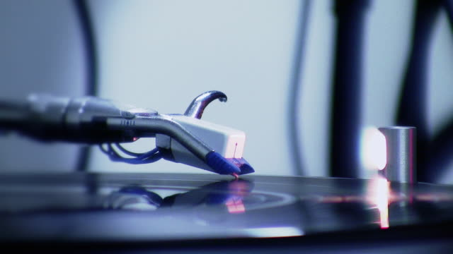 DJ Vinyl on Turntable Spinning (HD) video