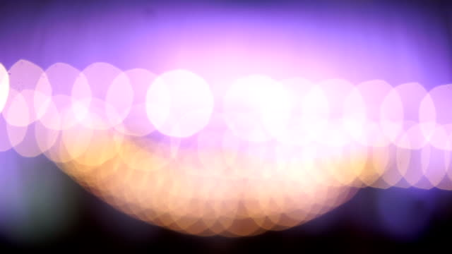 HD: violet and orange bokeh abstract light background video